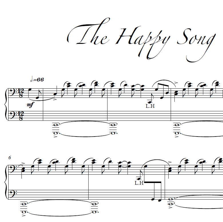 Song song sheet music : The Happy Song Sheet Music | Kyle Landry